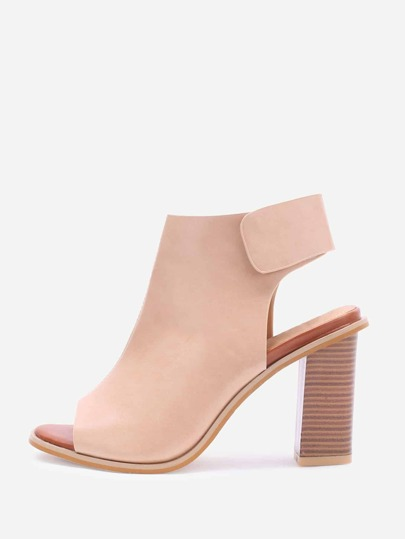 Apricot Peep Toe Sling Back High Heels