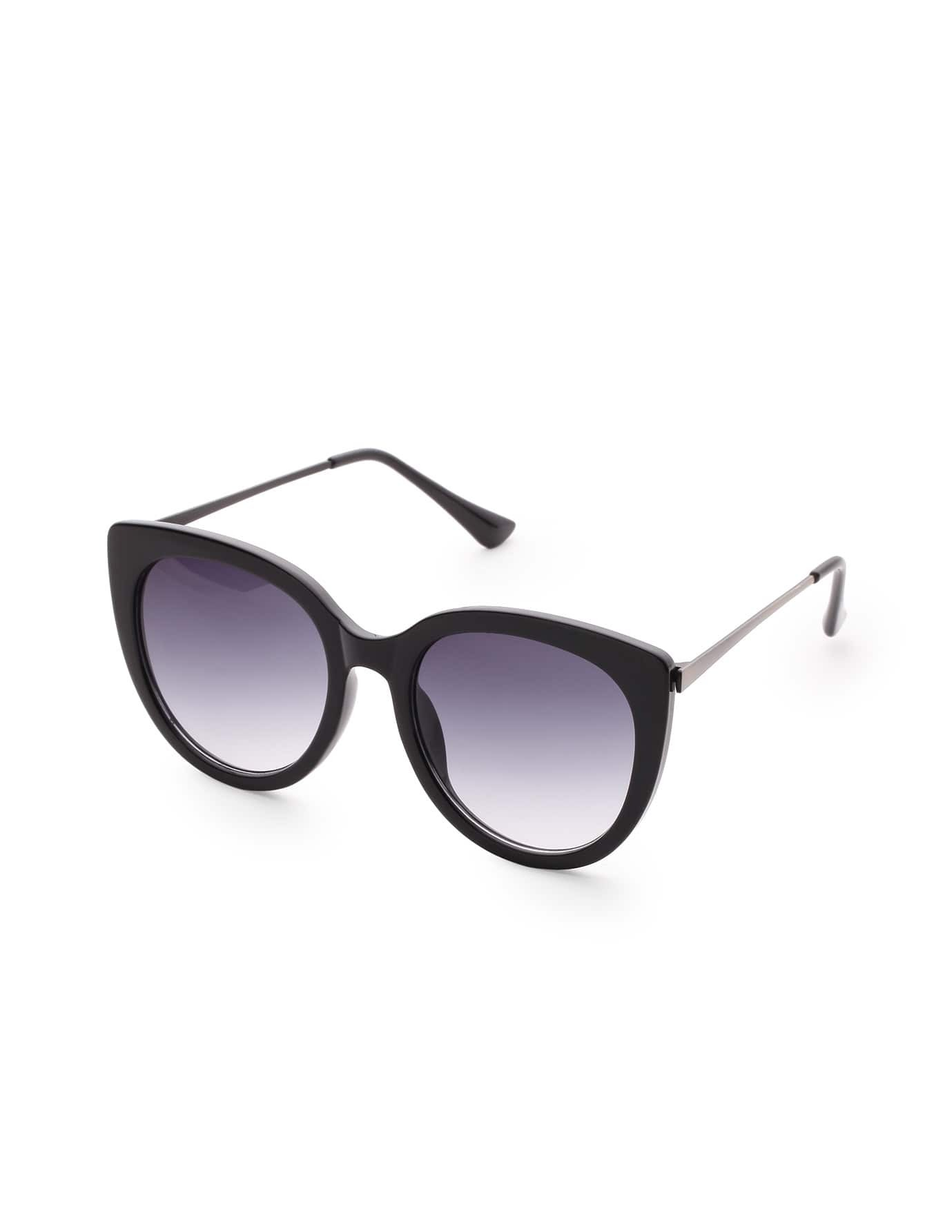 Black Frame Cat Eye Sunglasses -SheIn(Sheinside)
