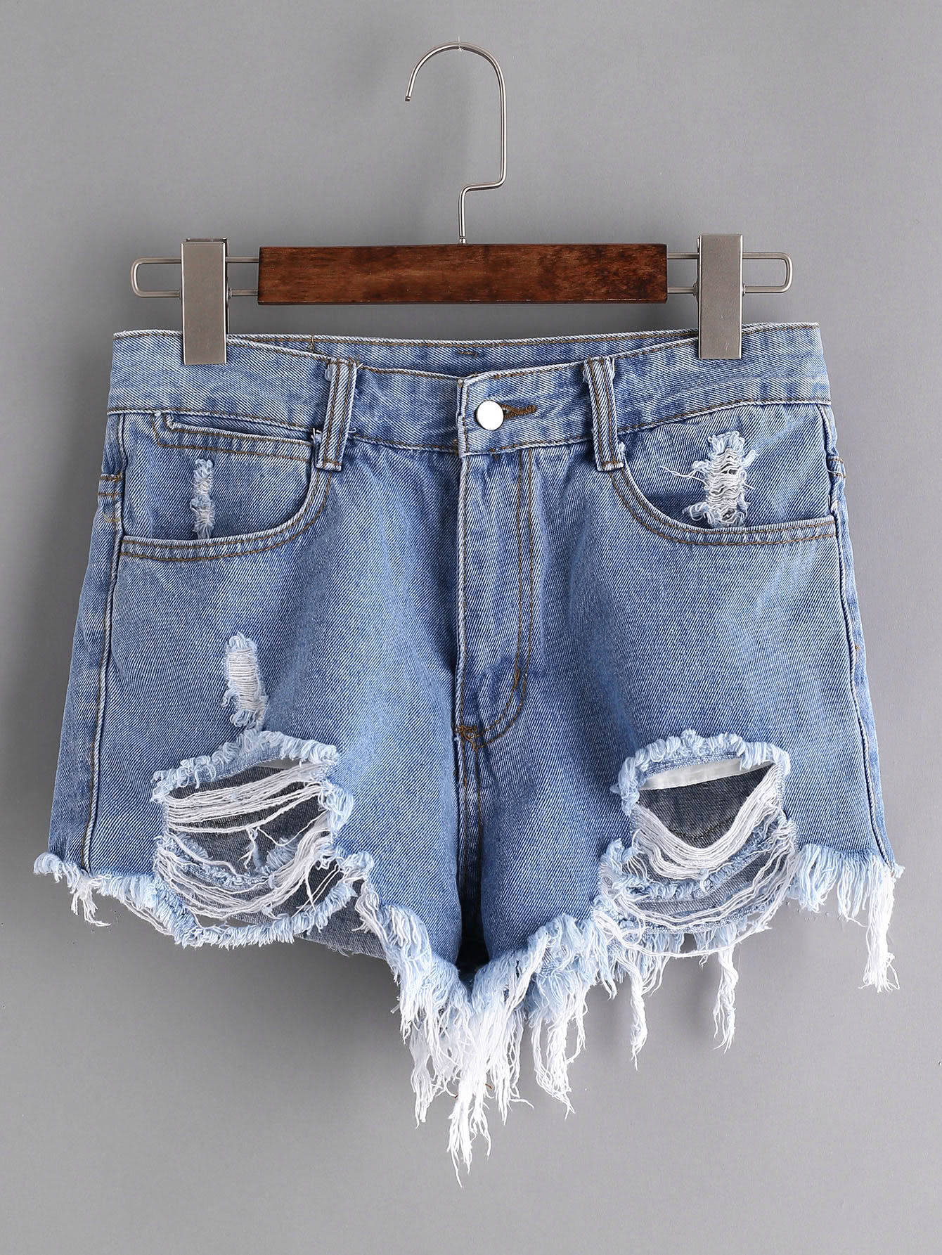 Distressed Raw Hem Denim Shorts 10 pcs d sub 15 pin male solder type plug adapter vga connector serial ports db15m