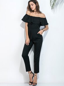 Flounce Layered Straight Jumpsuit