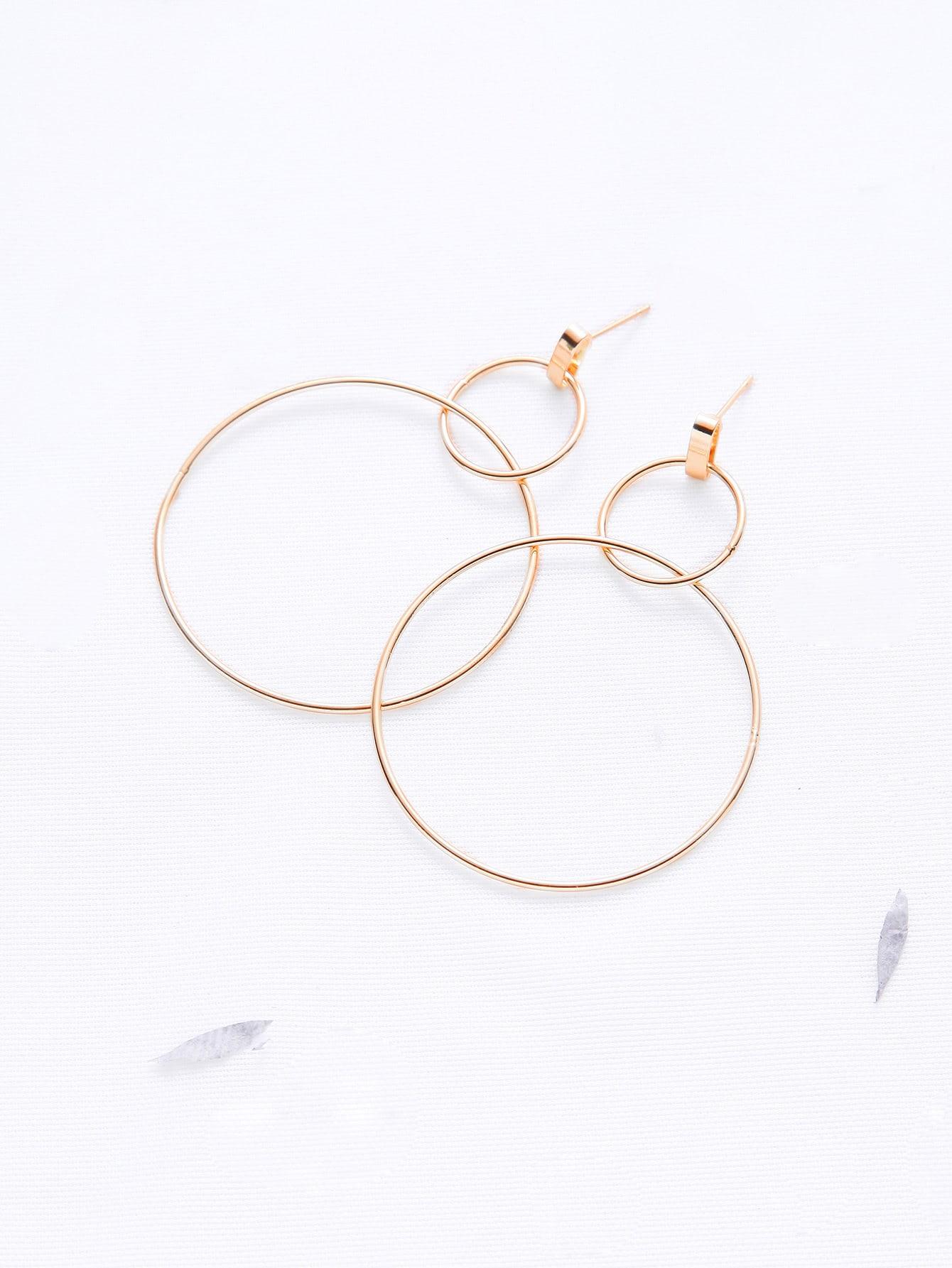 Фото Gold Double Hoop Earrings. Купить с доставкой