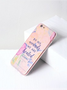 Letter Print Clear iPhone 6/6s Case