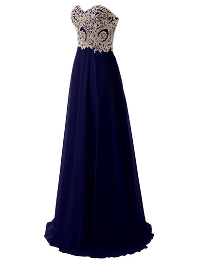 Sweetheart Rhinestone Embellished Chiffon Bridesmaid Dress