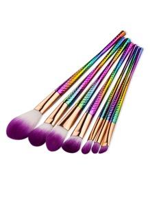 Multicolor delicato di spazzola di trucco