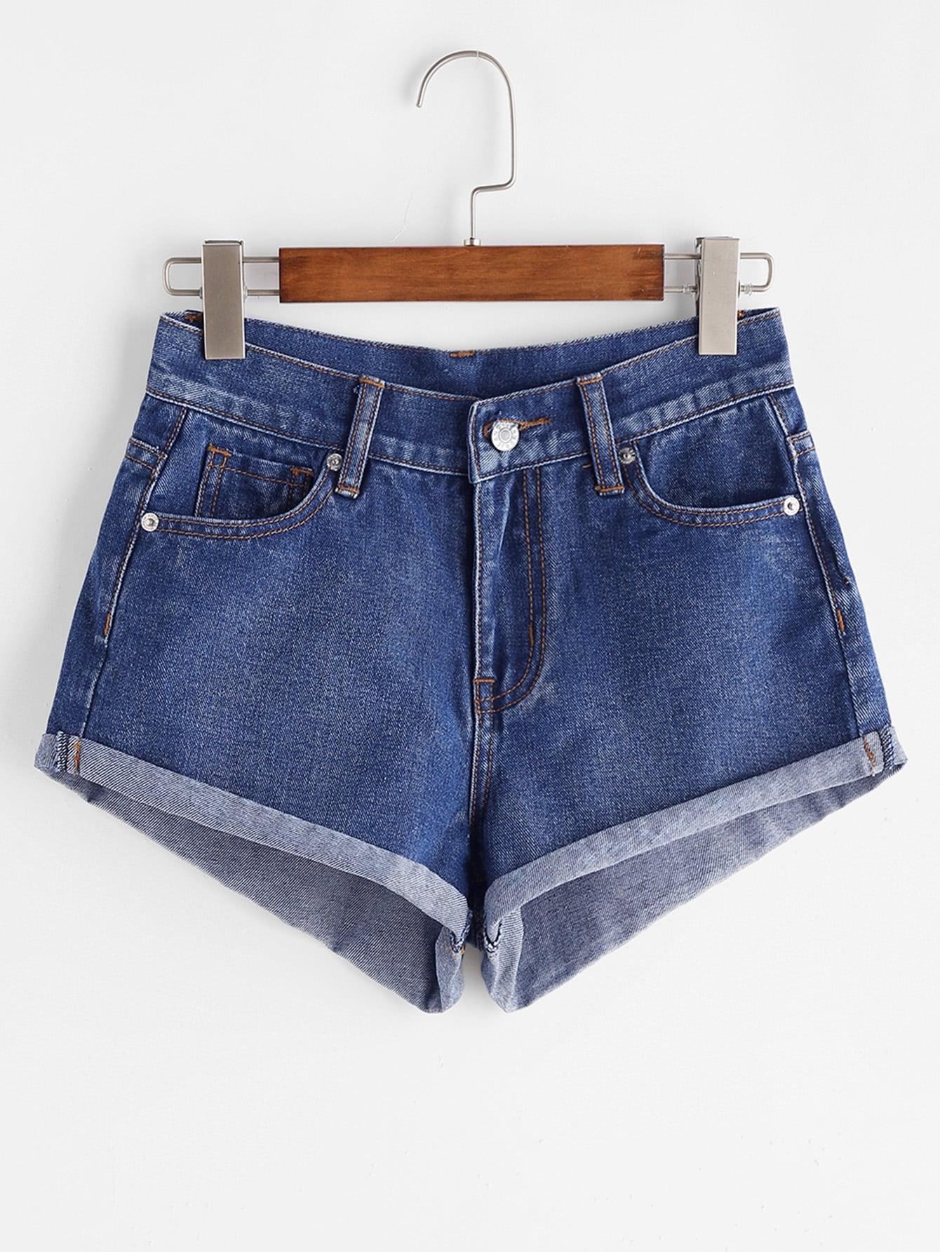 Фото Roll Hem Denim Shorts. Купить с доставкой