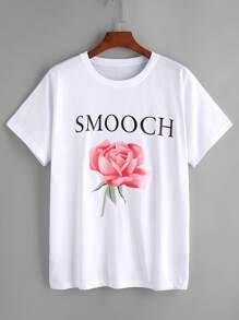 Grafik-Druck-T-Shirt