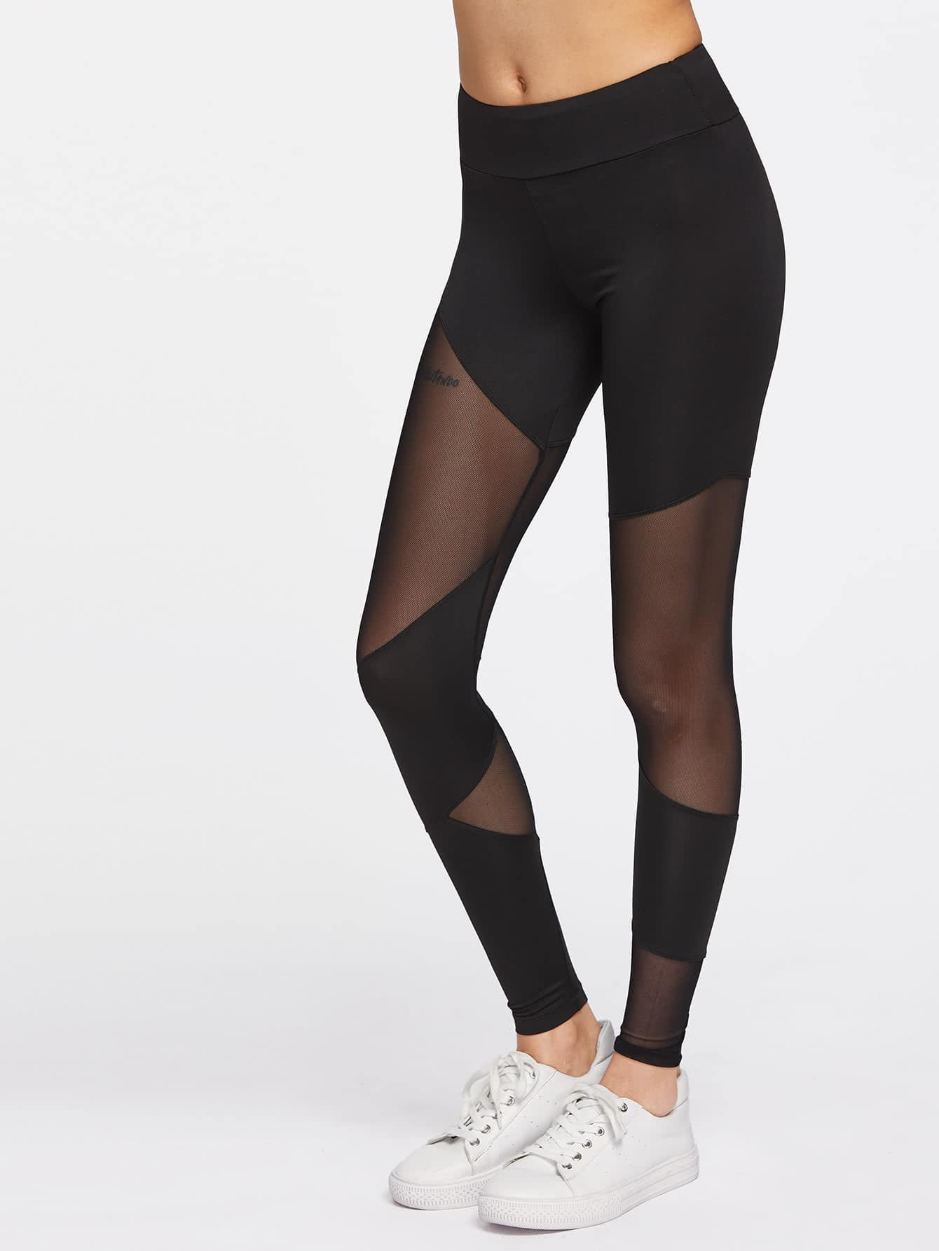 Active Mesh Paneled Leggings leggings170403304