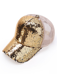 Paillettes Dettaglio Cappello da baseball