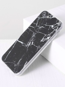 Black Marble Pattern iPhone 7 Case