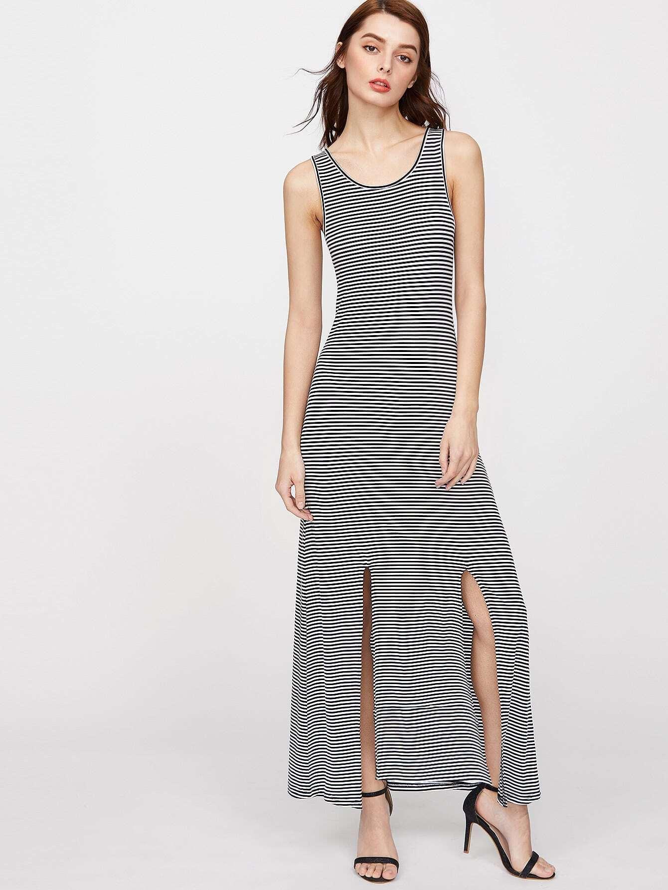 Фото Striped M-Slit Tank Dress. Купить с доставкой