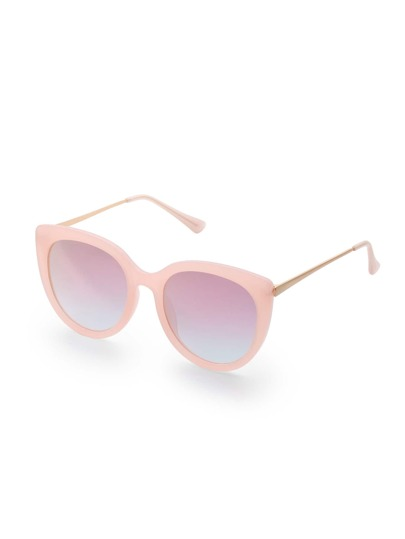 Pink Lens Cat Eye Sunglasses