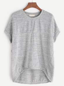 Grey High Low Marled T-shirt