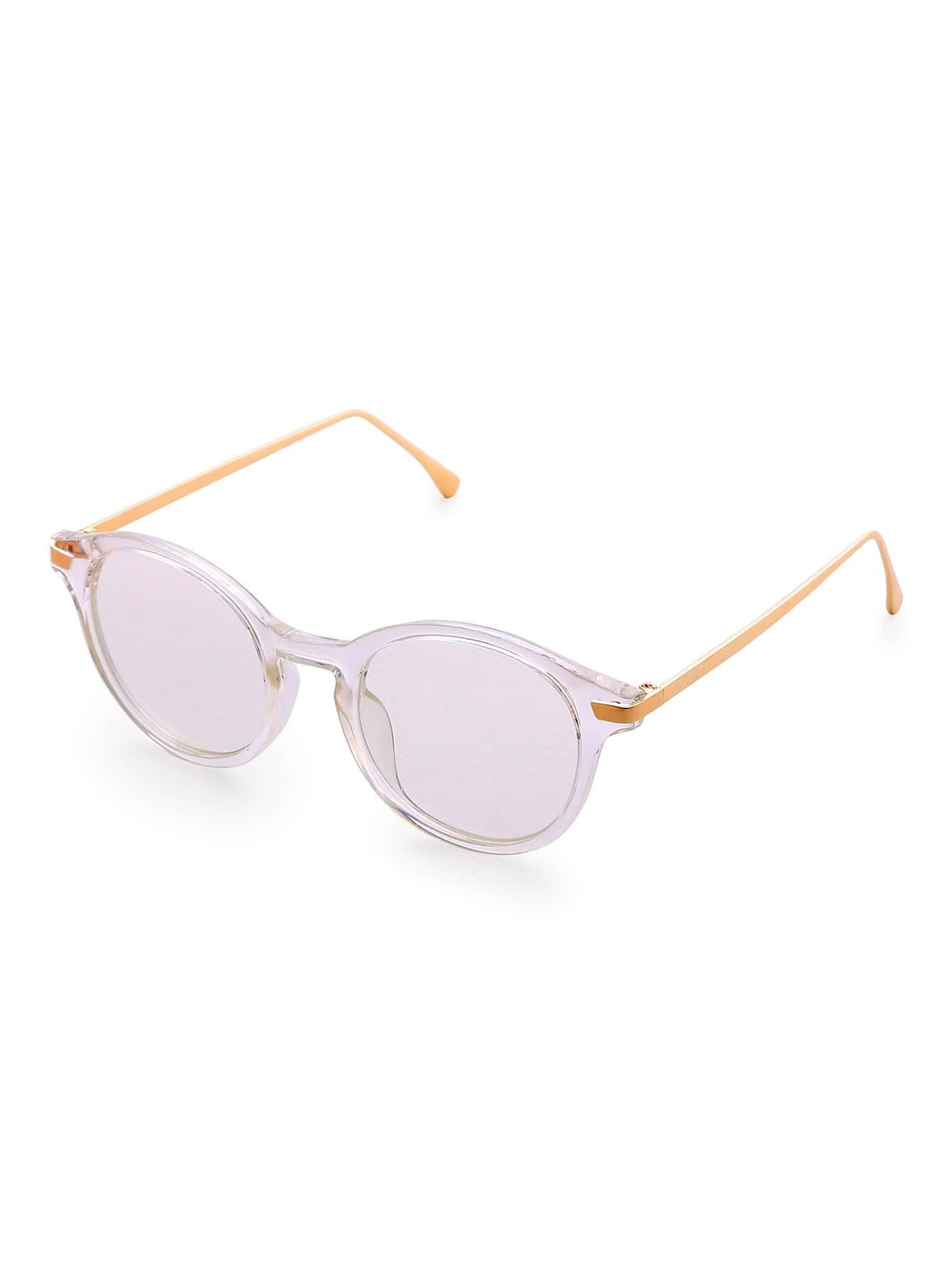 White Frame Clear Lens Glasses sunglass170314302