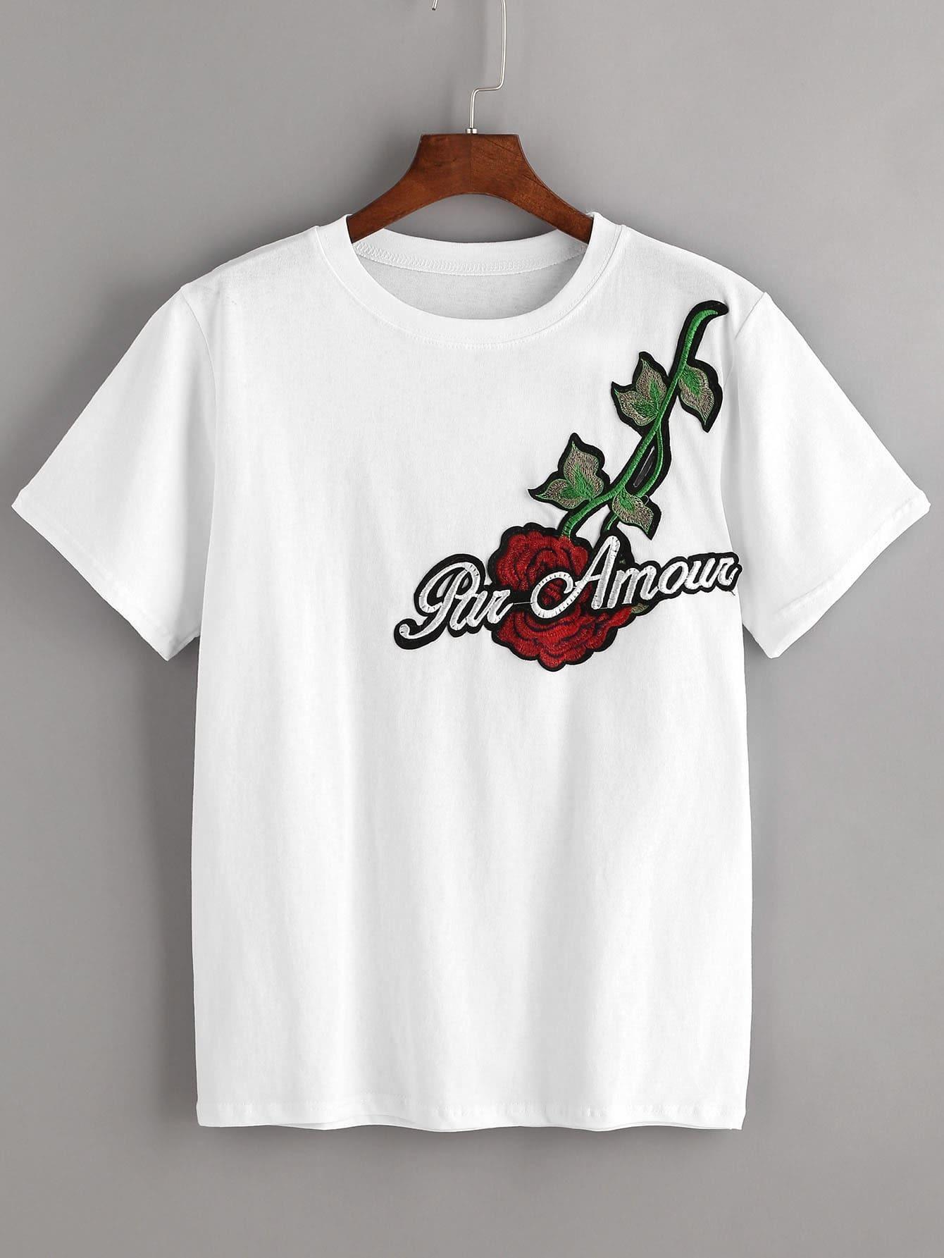 Фото футболок с вышивкой