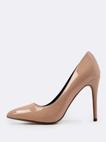 Patent Point Toe Heels NUDE