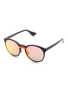 Gafas de sol con puentes dobles y lentes en contraste