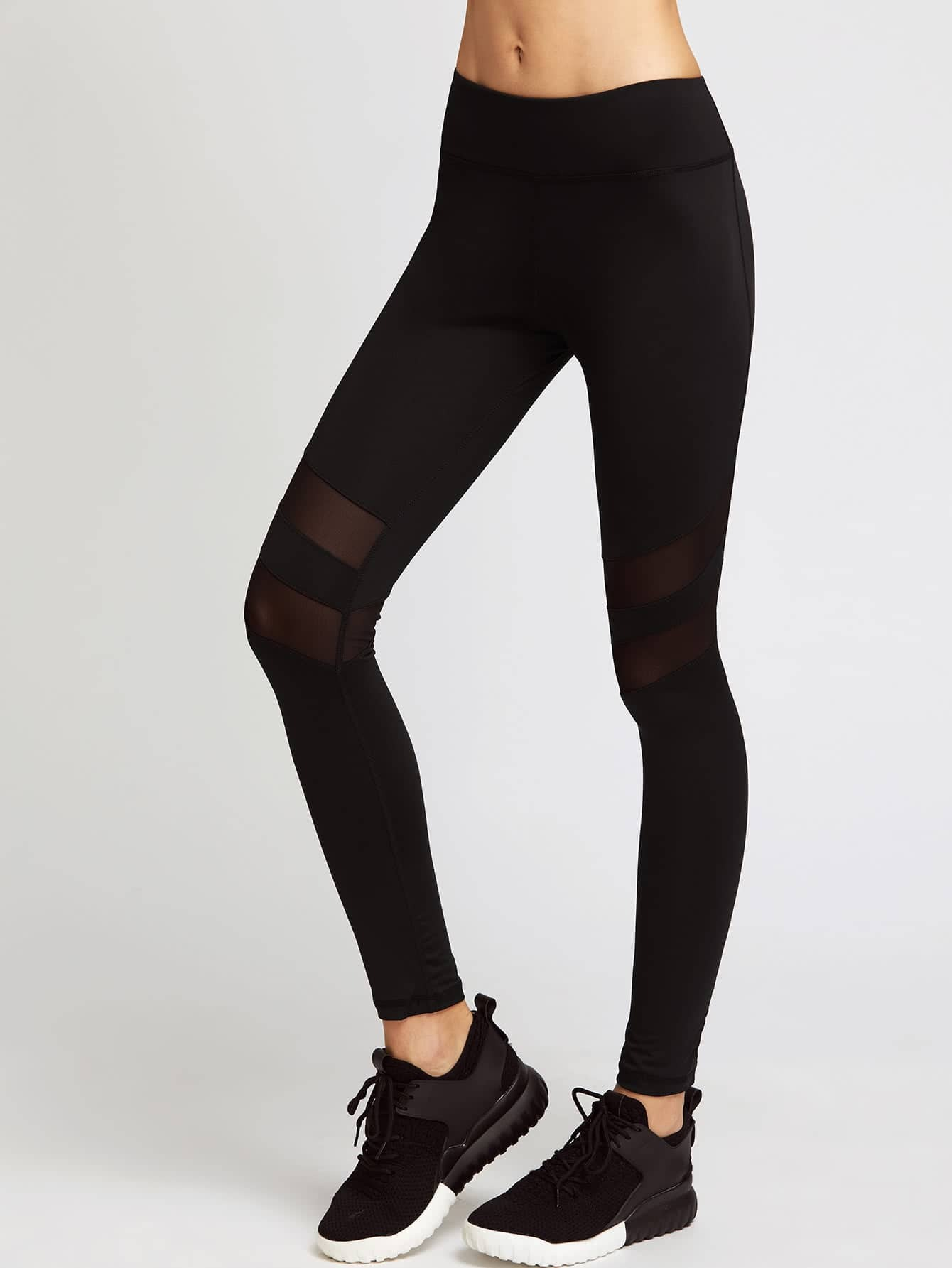 Active Mesh Paneled Leggings leggings170323302