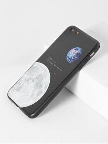 Black Moon Pattern iPhone 6 Plus/6s Plus Case