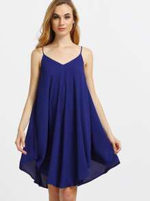 Asymmetrical Shift Slip Beach Dress