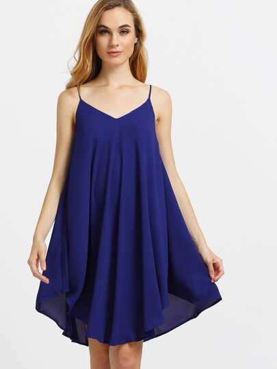 Asymmetrical Shift Slip Beach Dress