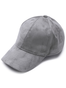 Dark Grey Suede Casual Baseball Cap