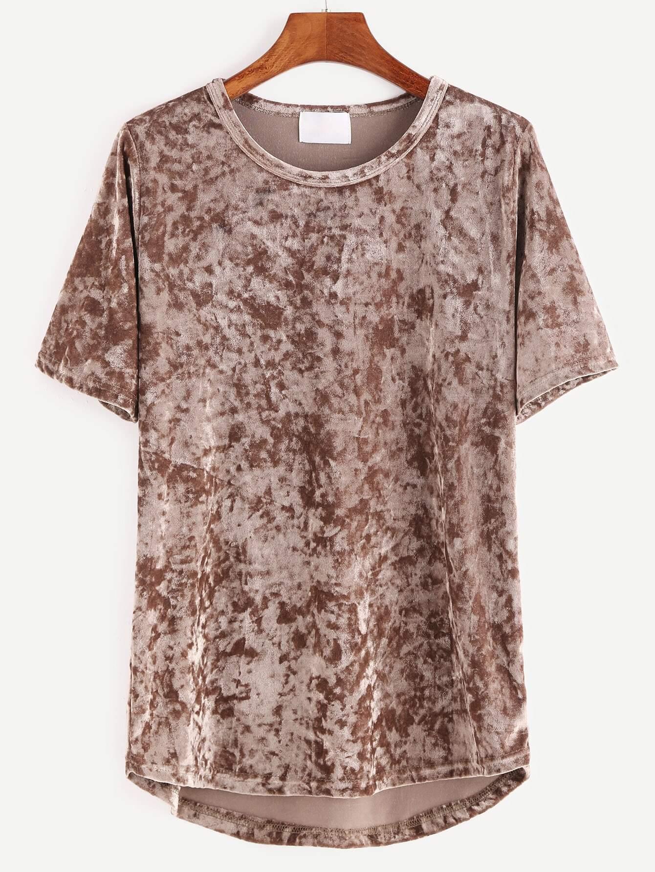 Фото High Low Velvet T-shirt. Купить с доставкой