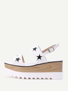 Модные кожаные сандалии на платформе