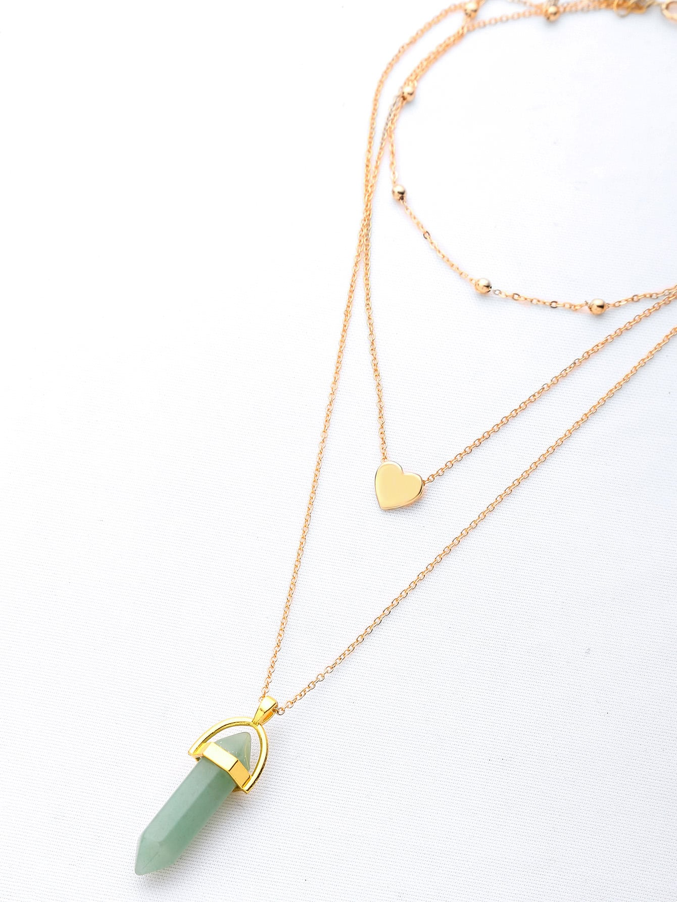 Фото Faux Stone Gem Layered Chain Necklace. Купить с доставкой