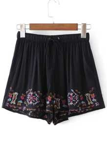 Shorts à broder taille taille