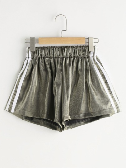 Metallic Striped Side Shorts