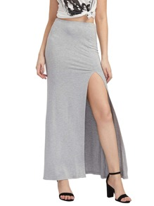 High Split Side Maxi Skirt