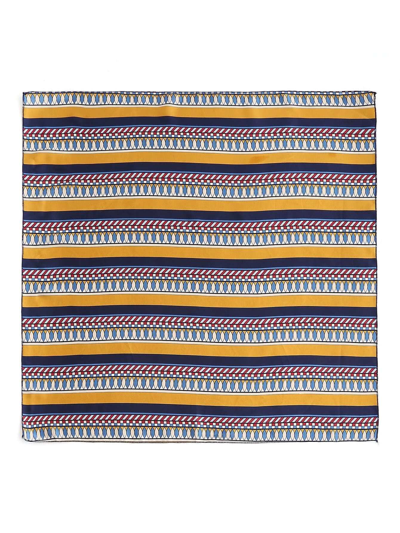 Фото Geometric Striped Print Bandana. Купить с доставкой