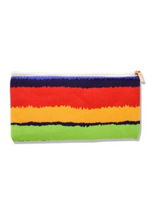 Color Block Canvas Makeup Bag