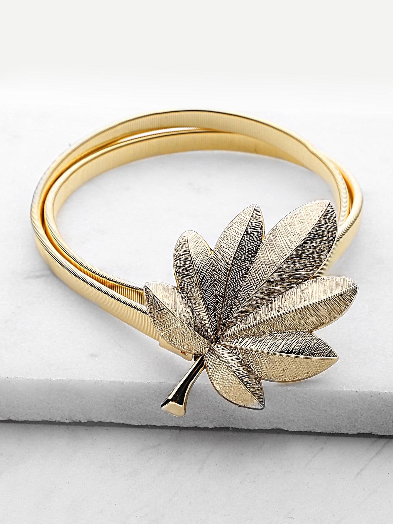 Фото Leaf Shaped Buckle Skinny Belt. Купить с доставкой