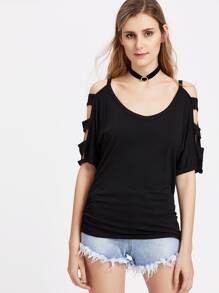 T-shirt con spalle scoperte