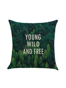 Forest Print Pillow Case Cover