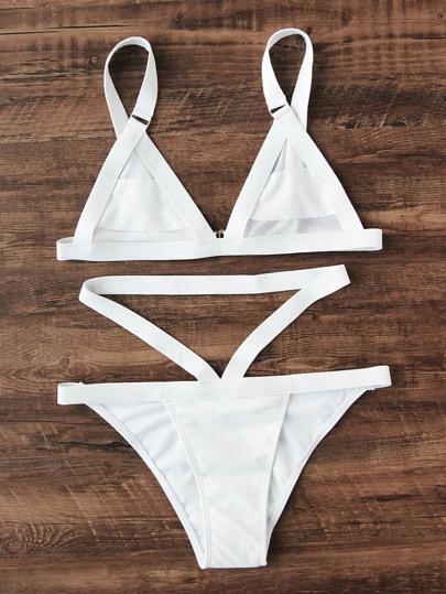 Strappy Triangle Bikini Set