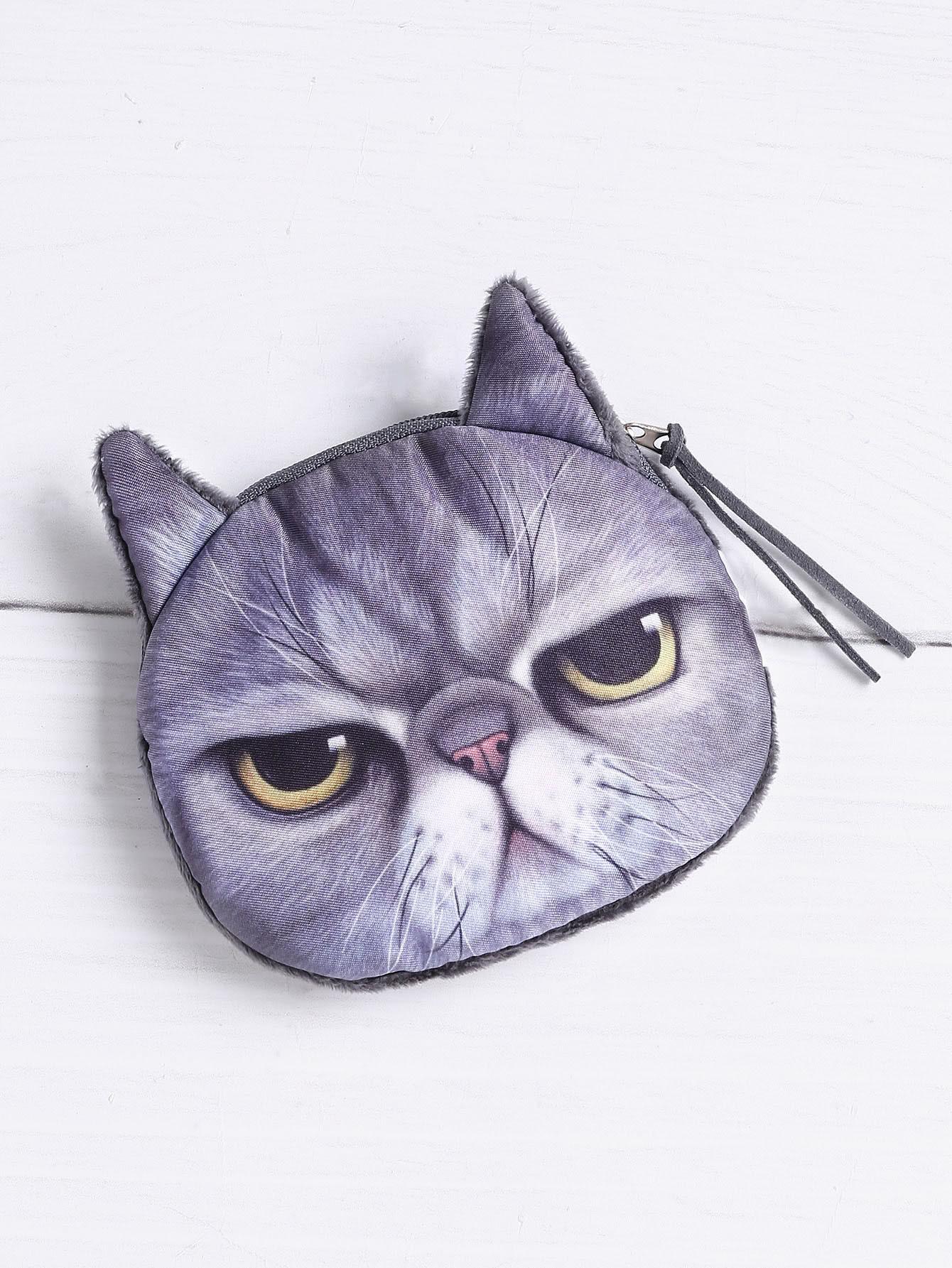 Фото Cat Shaped Cute Coin Purse. Купить с доставкой