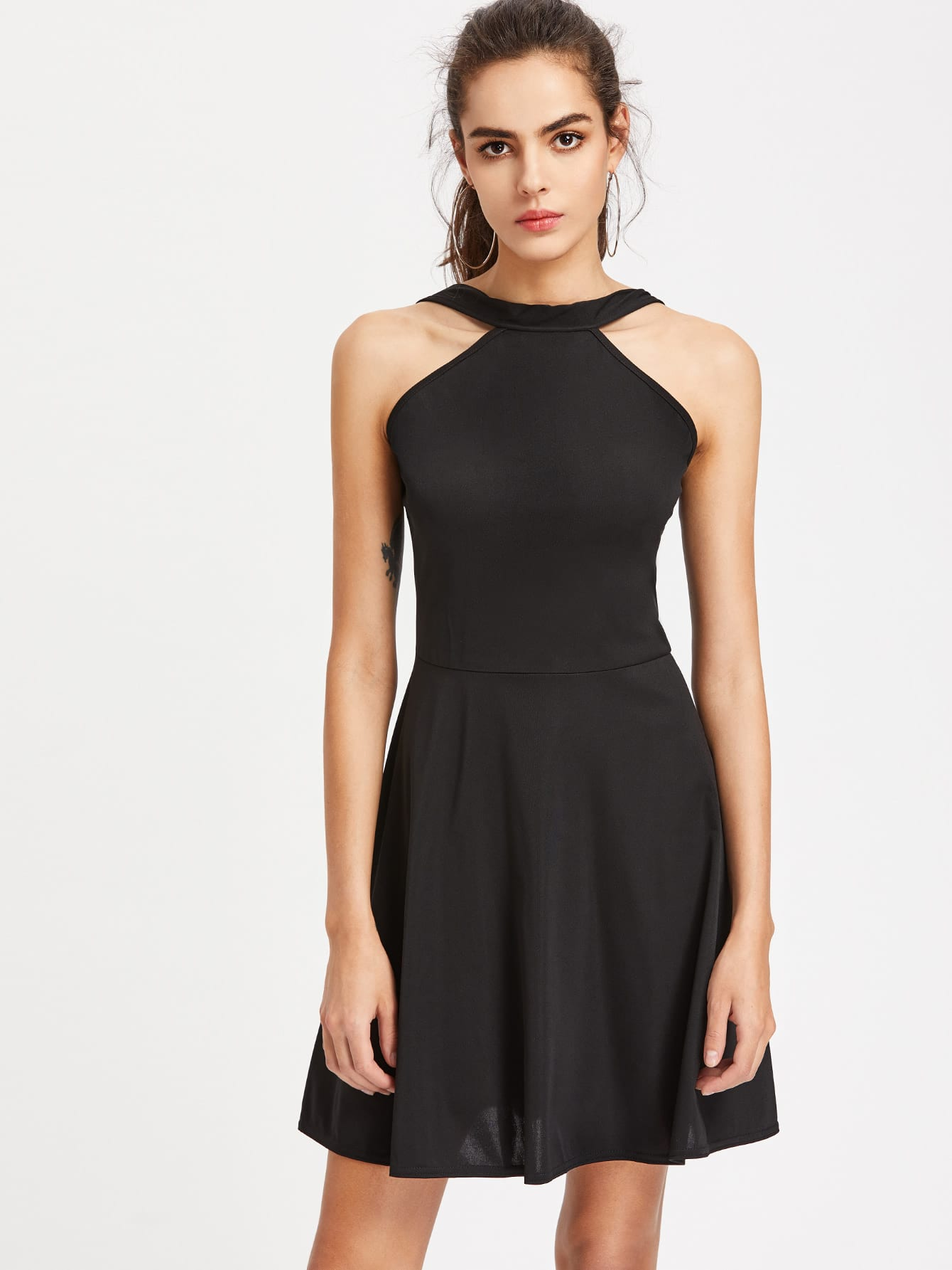Фото Zip Back A Line Dress. Купить с доставкой