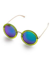 Gafas de sol redondas con marco en contraste