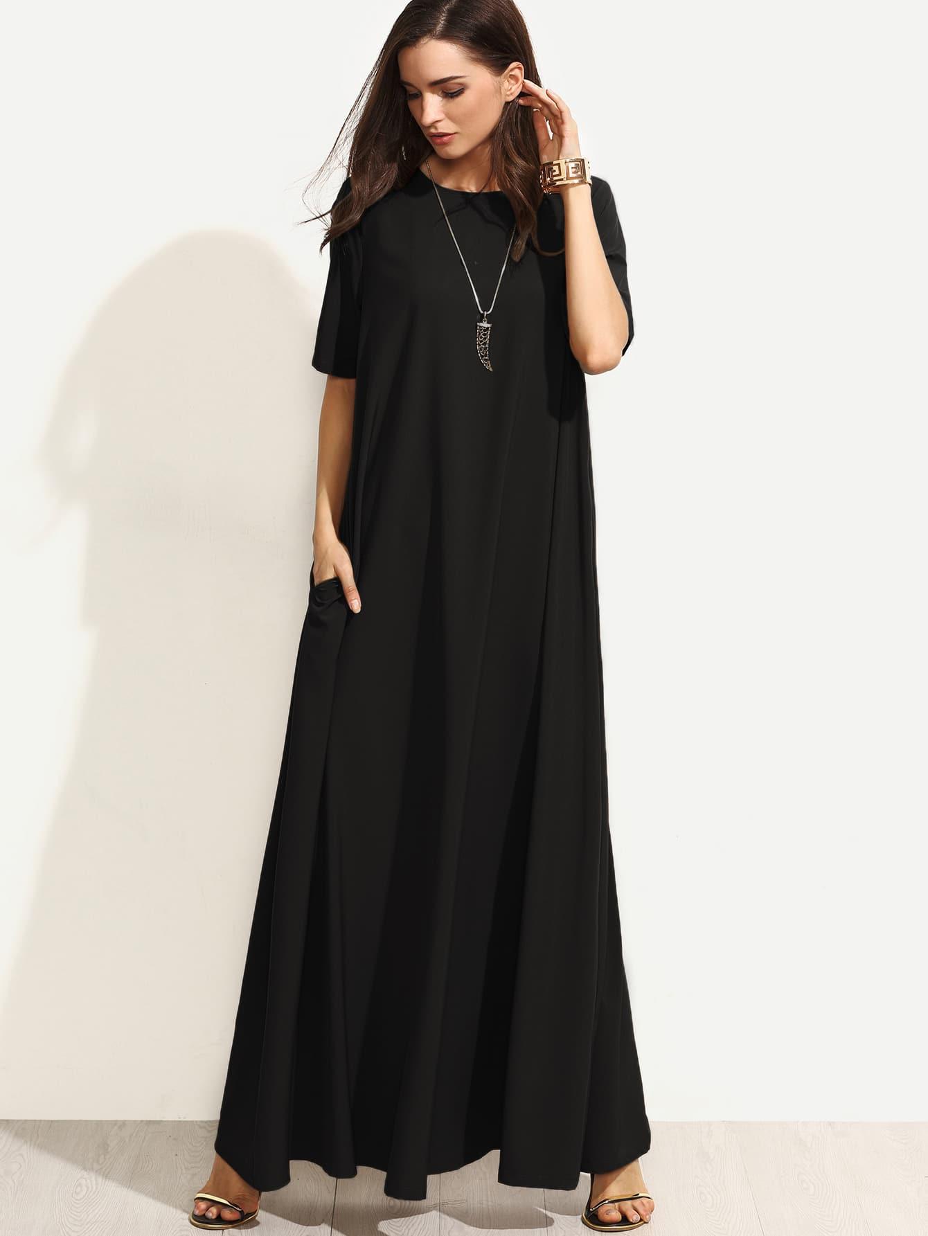 Фото Zip Back Tent Dress With Pocket Detail. Купить с доставкой