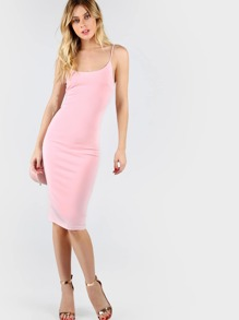Pink Skinny Cami Dress