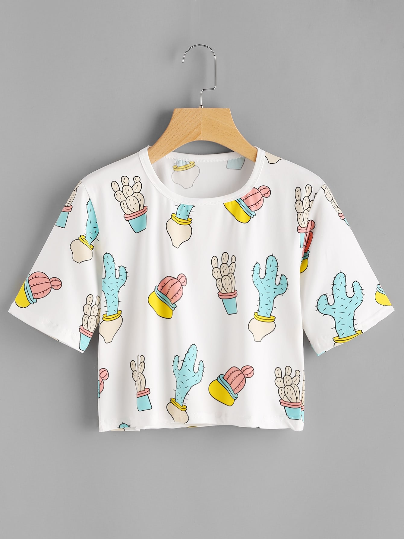 Фото Cactus Print Crop Tee. Купить с доставкой