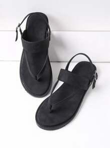 Thong flache Sandalen