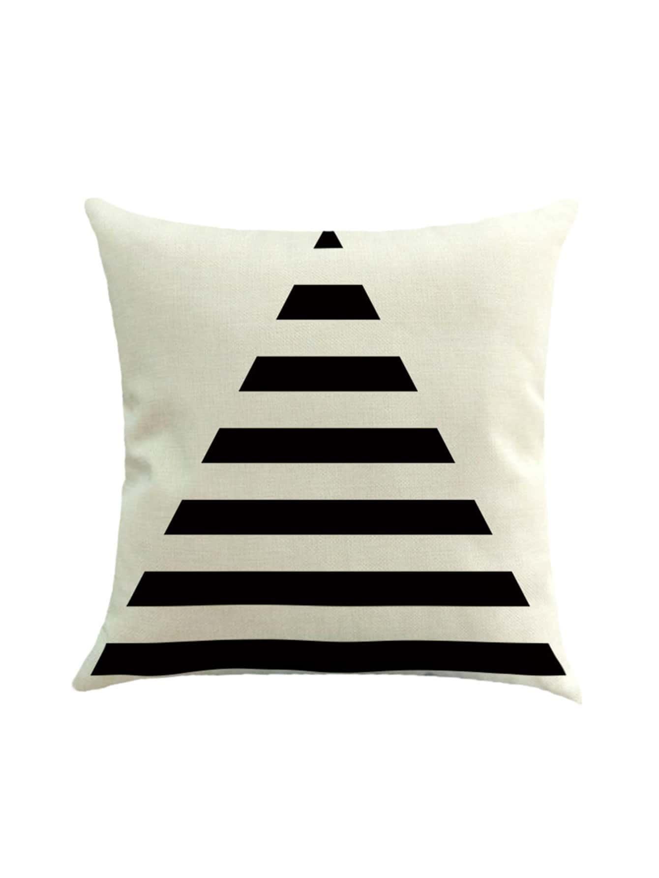 Фото Contrast Triangle Print Cushion Cover. Купить с доставкой