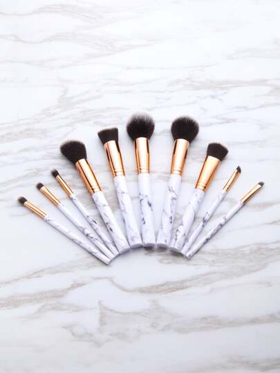 Marble Pattern Handle Brush Set