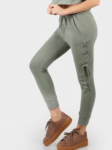 Lace Up Joggers SAGE