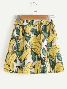 Jupe imprimée des bananes