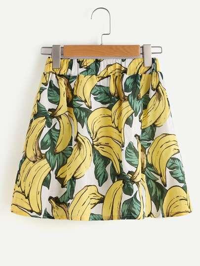 Banana Print Skirt