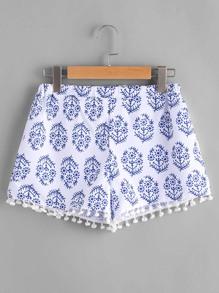 Shorts estampado con diseño de bolas